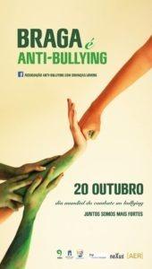 Cartaz de iniciativa anti-bullying em Braga