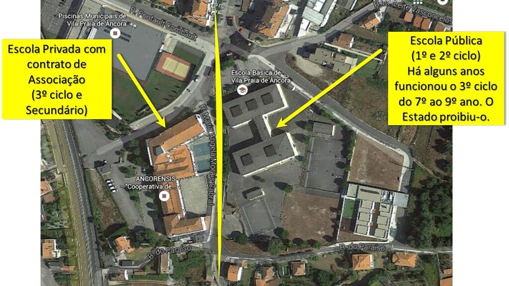 Planta das escolas situadas na Rua Alexandre Herculano em VPA