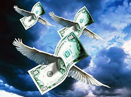 Dinheiro a voar