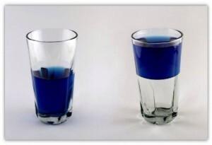 copo meio cheio ou meio vazio