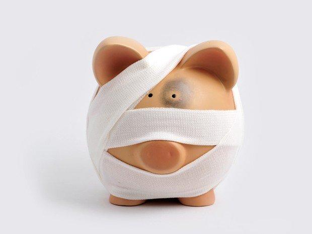 porquinho ferido