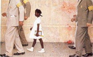 The problem we all live with Quadro de norman-rockwell sobre o caso de Ruby Bridges