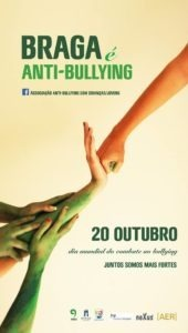 Cartaz de iniciativa anti-bullying em Braga