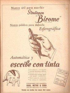 Anúncio de esferográficas (Argentina)