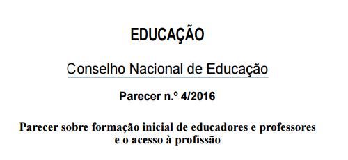 Parecer Conselho Nacional de Educação