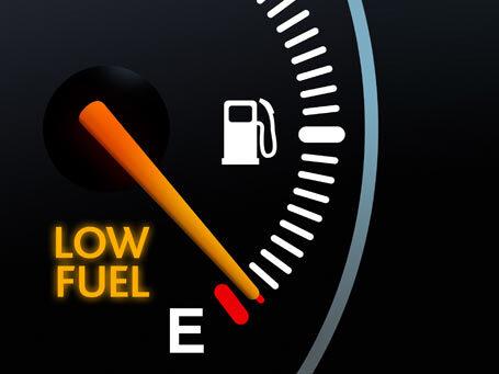 falta de gasolina