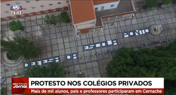 Protesto colégios privados_SIC
