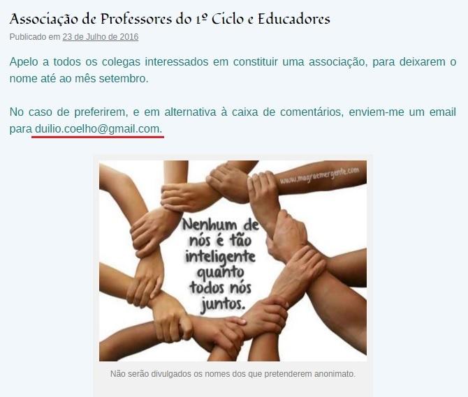 Associação de professores 1º ciclo e Educadores