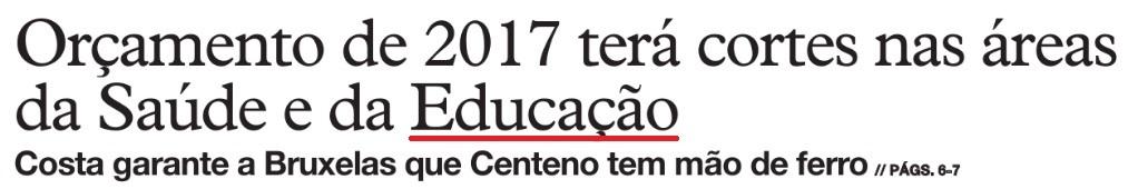cortes na educação
