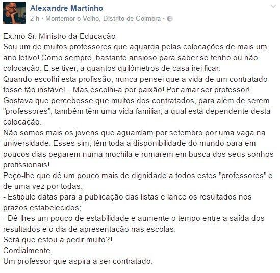 Comentário Alexandre Martinho