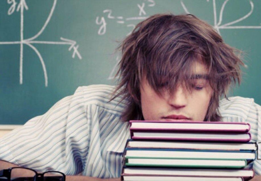 aluno dormir